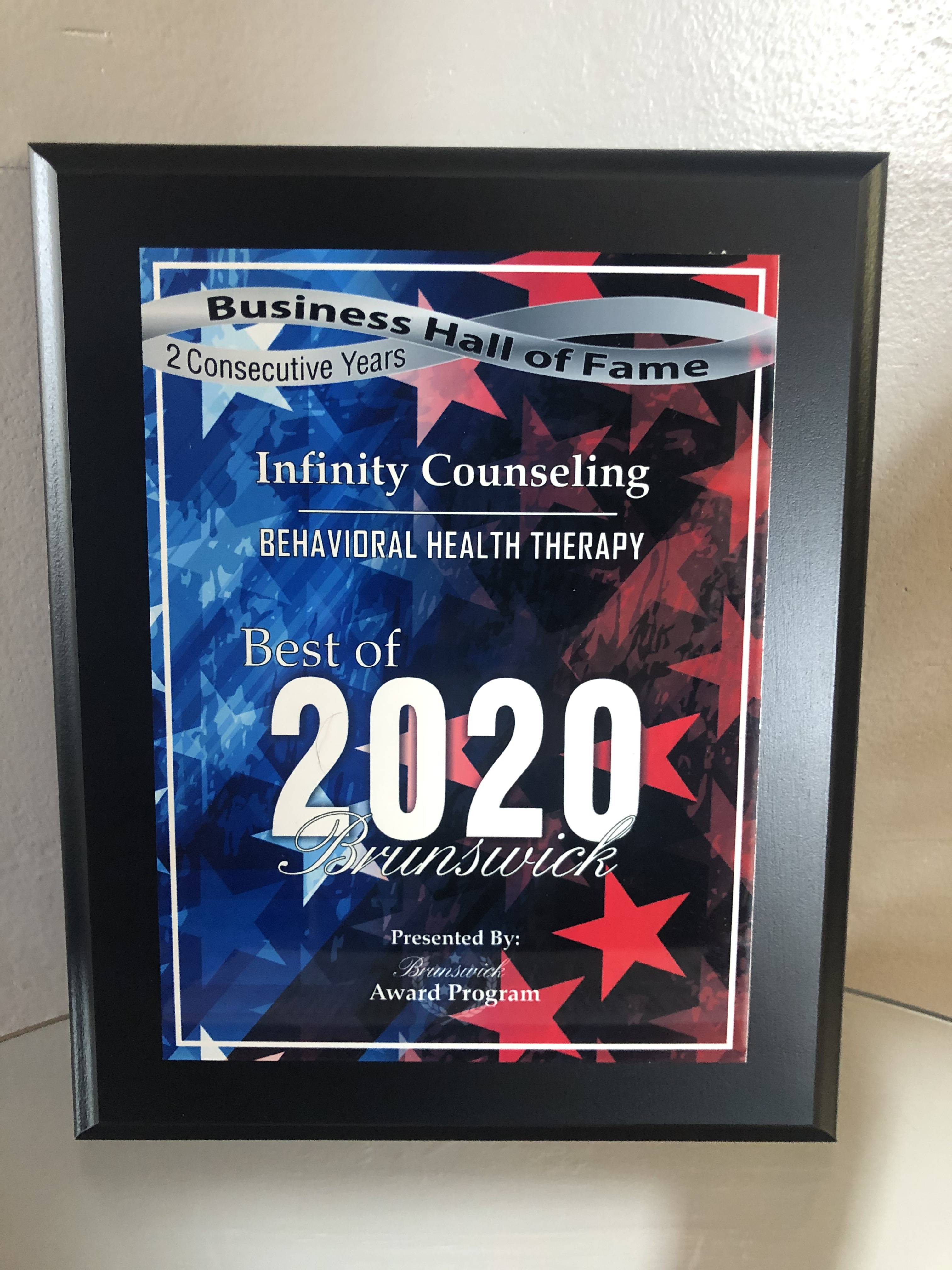 Voted Best Behavioral Health Therapy for two consecutive years!